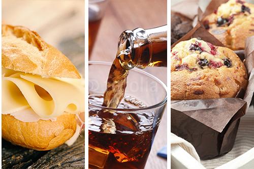 Sandwich + boisson + dessert